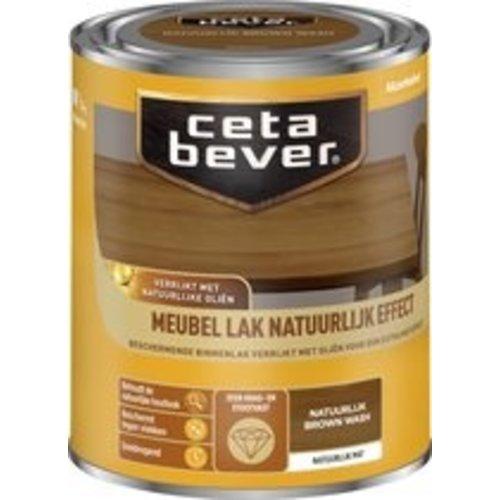 Cetabever Meubel Lak Natuurlijk Effect Mat - Brown Wash - 0,75 liter