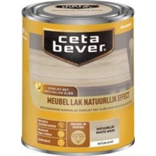 Cetabever Meubel Lak Natuurlijk Effect Mat - White Wash - 0,75 liter