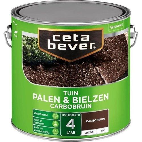 Cetabever Palen en Bielzen Dekkend Mat - Carbobruin - 2,5 liter