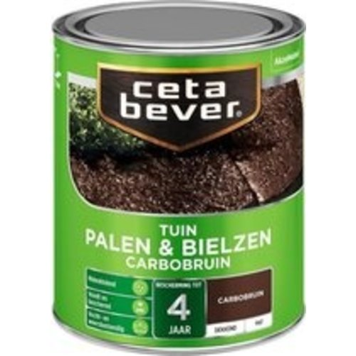 Cetabever Palen en Bielzen Dekkend Mat - Carbobruin - 0,75 liter