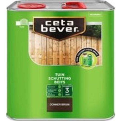 Cetabever Schuttingbeits Mat - Donker Bruin - 2,5 liter
