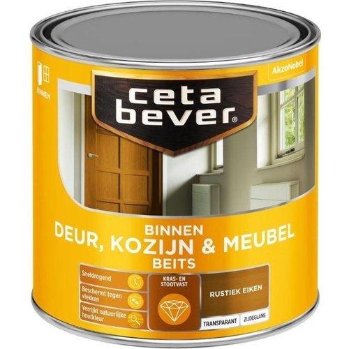 Cetabever Binnenbeits Deur Kozijn en Meubel Transparant Zijdeglans - Rustiek Eiken - 0,25 liter