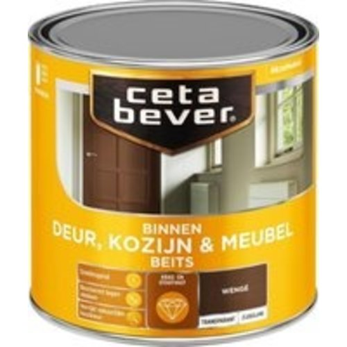 Cetabever Binnenbeits Deur Kozijn en Meubel Transparant Zijdeglans - Wenge - 0,25 liter
