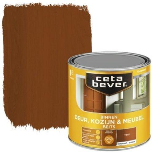 Cetabever Binnenbeits Deur Kozijn en Meubel Transparant Zijdeglans - Teak - 0,25 liter