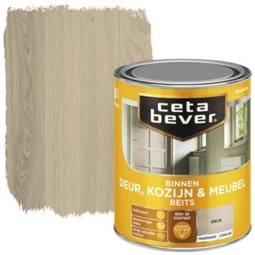 Cetabever Binnenbeits Deur Kozijn en Meubel Transparant Zijdeglans - Grijs - 0,75 liter