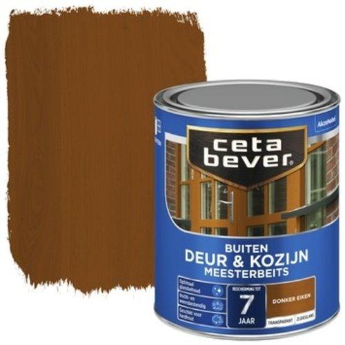 Cetabever Meesterbeits Deur en Kozijn Transparant Zijdeglans - Donker Eiken - 0,75 liter