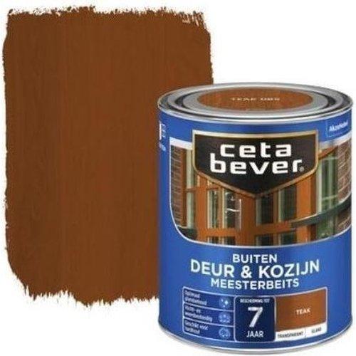Cetabever Meesterbeits Deur en Kozijn Transparant Glans - Teak - 0,75 liter