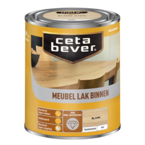Cetabever Meubel Lak Binnen Transparant Mat - Blank - 0,75 liter