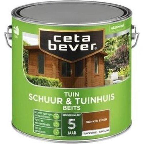 Cetabever Schuur en Tuinhuis Beits Transparant Zijdeglans - Donker Eiken - 2,5 liter