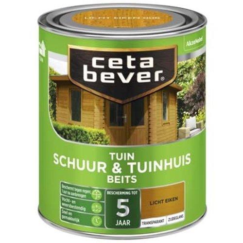 Cetabever Schuur en Tuinhuis Beits Transparant Zijdeglans - Donker Eiken - 0,75 liter