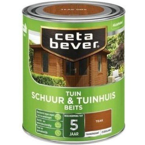 Cetabever Schuur en Tuinhuis Beits Transparant Zijdeglans - Teak - 0,75 liter