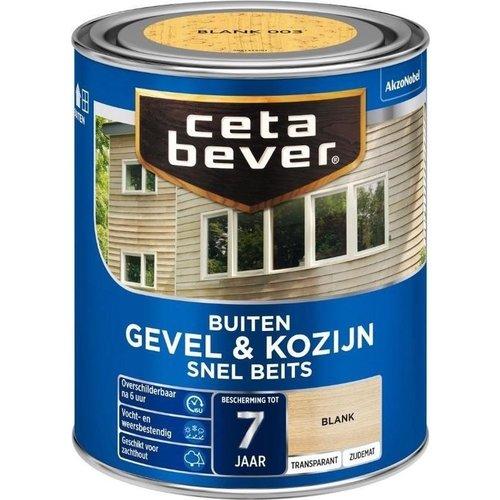 Cetabever Gevel en Kozijn Snel Beits Transparant Zijdemat - Blank - 0,75 liter
