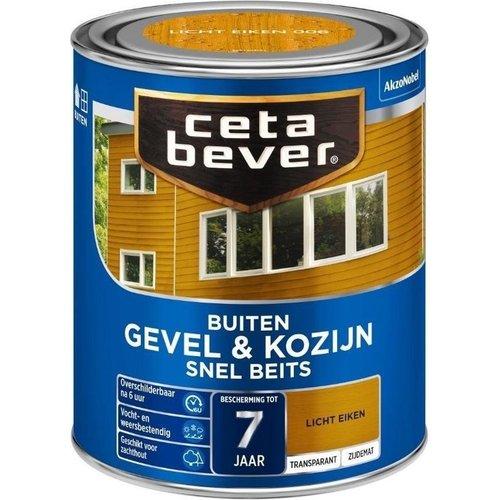 Cetabever Gevel en Kozijn Snel Beits Transparant Zijdemat - Licht Eiken - 0,75 liter