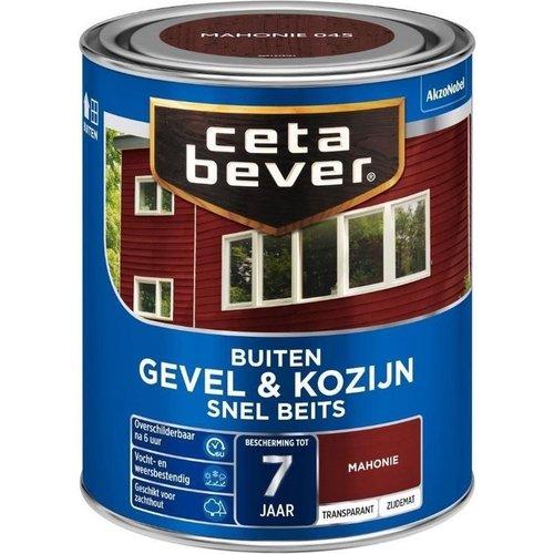 Cetabever Gevel en Kozijn Snel Beits Transparant Zijdemat - Mahonie - 0,75 liter