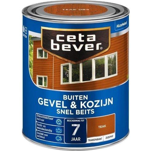 Cetabever Gevel en Kozijn Snel Beits Transparant Zijdemat - Teak - 0,75 liter