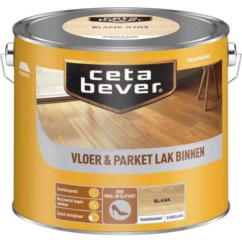 Cetabever Vloer en Parket Lak Binnen Transparant Zijdeglans - Blank - 2,5 liter
