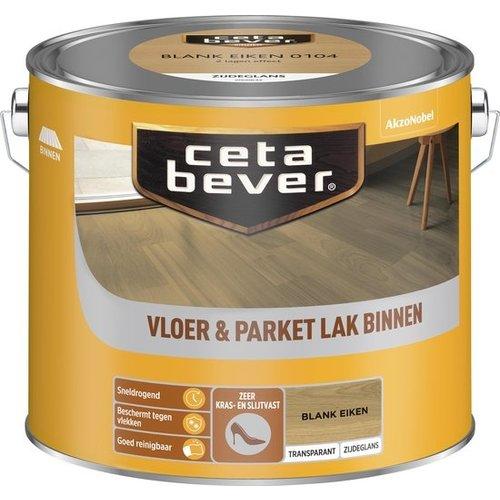 Cetabever Vloer en Parket Lak Binnen Transparant Zijdeglans - Blank Eiken - 2,5 liter