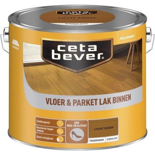 Cetabever Vloer en Parket Lak Binnen Transparant Zijdeglans - Licht Eiken - 2,5 liter