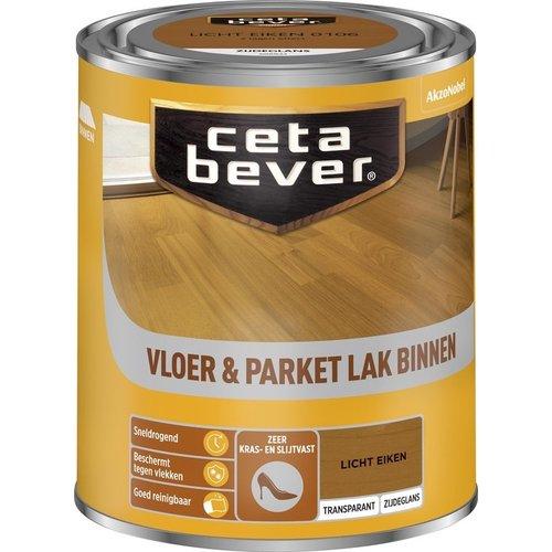 Cetabever Vloer en Parket Lak Binnen Transparant Zijdeglans - Licht Eiken - 0,75 liter