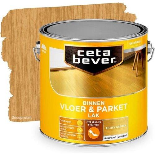 Cetabever Vloer en Parket Lak Binnen Transparant Zijdeglans - Antiek Grenen - 2,5 liter