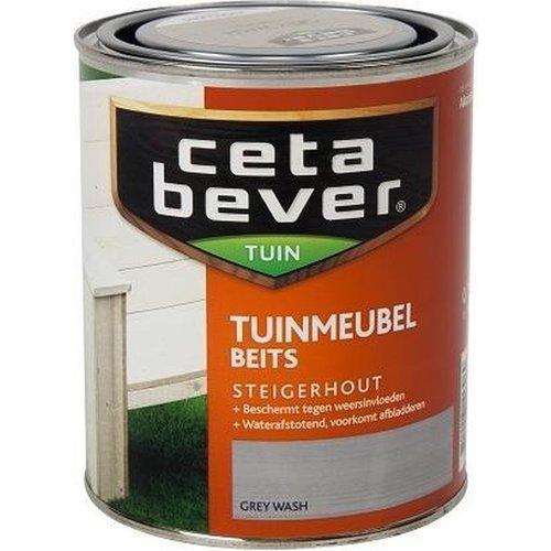 Cetabever Tuin Meubel Beits Steigerhout Transparant Zijdeglans - Grey Wash - 0,75 liter
