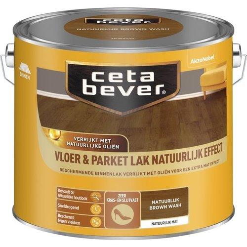 Cetabever Vloer en Parket Lak Natuurlijk Effect Mat - Brown Wash - 2,5 liter
