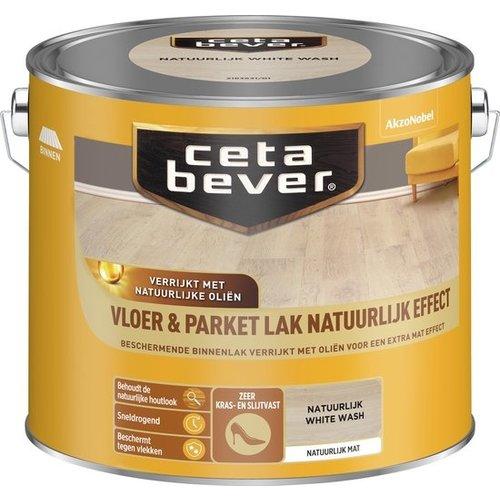 Cetabever Vloer en Parket Lak Natuurlijk Effect Mat - White Wash - 2,5 liter