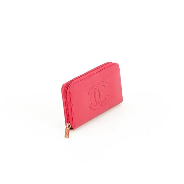 Chanel Portemonnaie Leder Zippy