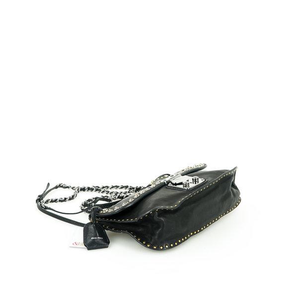 Miu Miu Leder Tasche mit Nieten