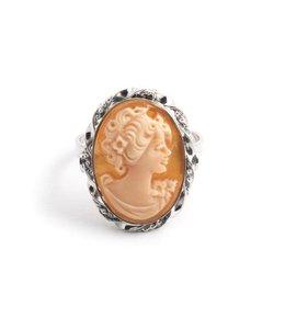 Mario Scognamiglio Sterling zilveren ring met ovale camee