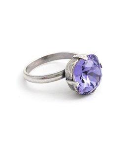 Krikor Paarse ring Swarovski kristal