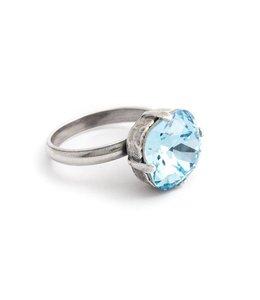 Krikor Blauwe ring Swarovski kristal