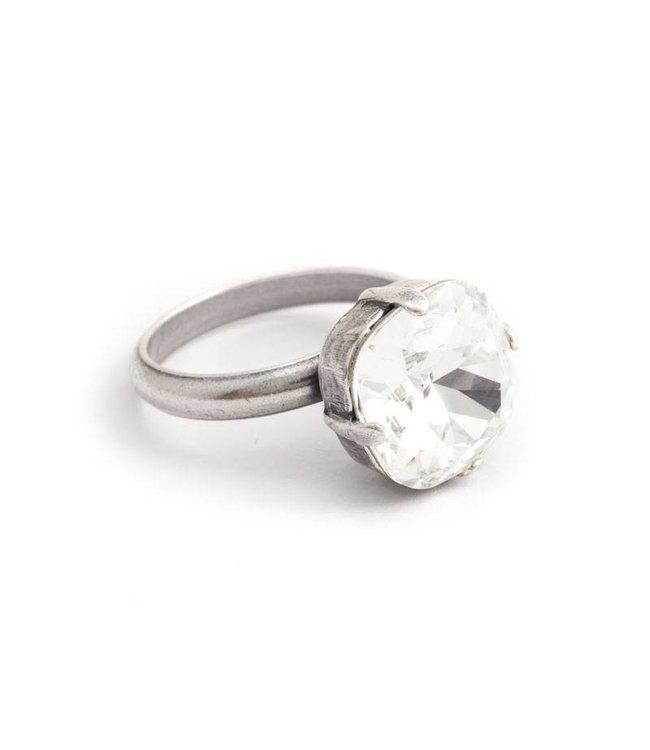 Krikor Heldere ring met 12 mm Swarovski kristal