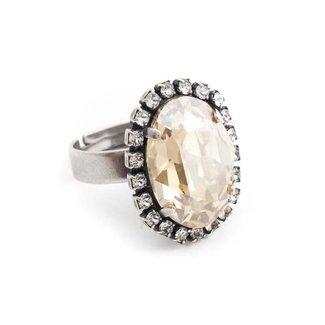 Krikor Beige ring kristal