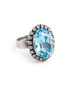Krikor Blauwe ring kristal