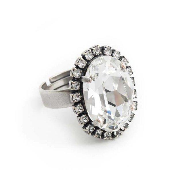 Krikor Ring helder kristal