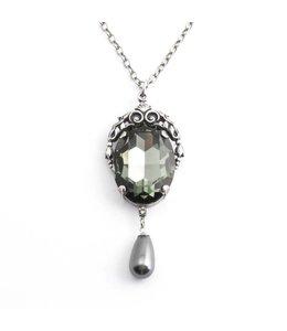 Krikor Grijs collier kristal