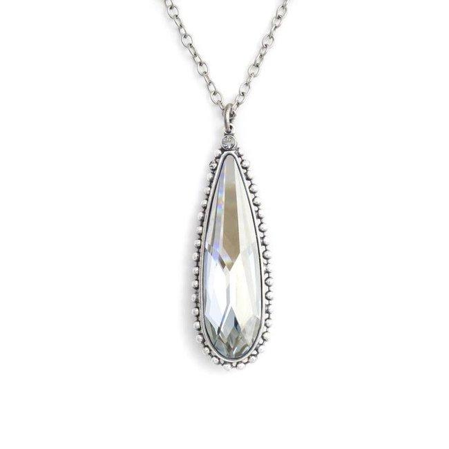 Krikor Blauwe kettinghanger kristal