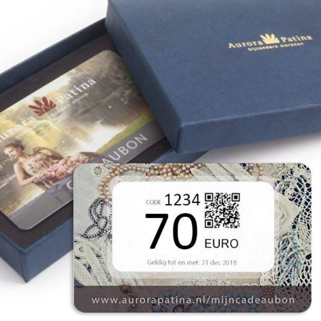 Aurora Patina Cadeaubon 70 euro