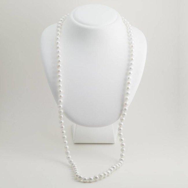 Witte parel ketting van 90 cm