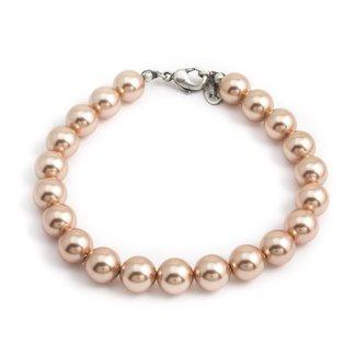 Krikor Goud roze  parel armband 8 mm