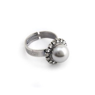 Krikor Licht grijze parel ring 10 mm