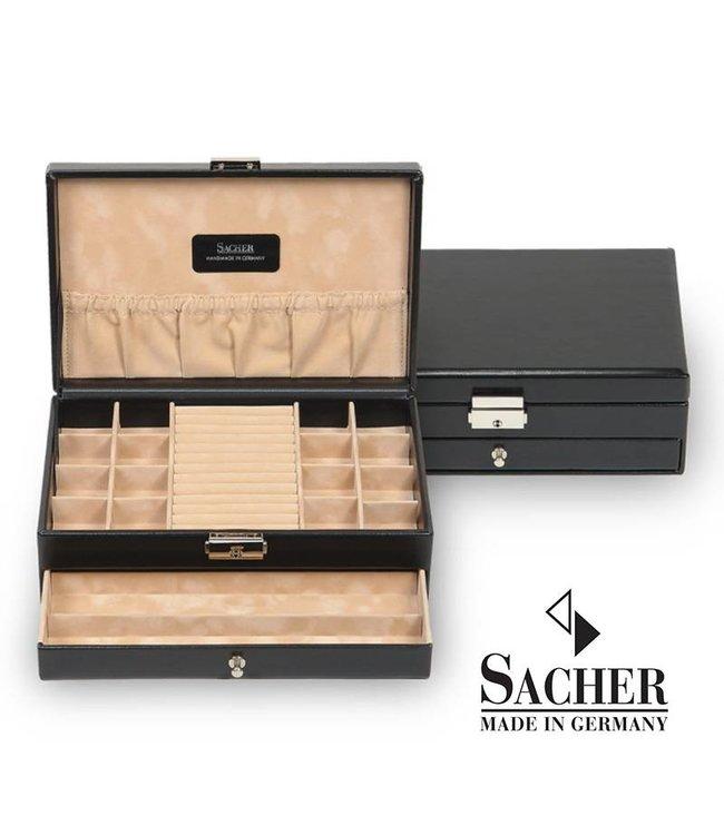 Sacher Ringendoos / sieradendoos zwart