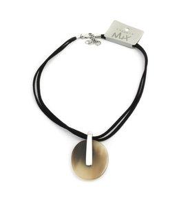 Culture Mix Zwarte ketting met hoorn