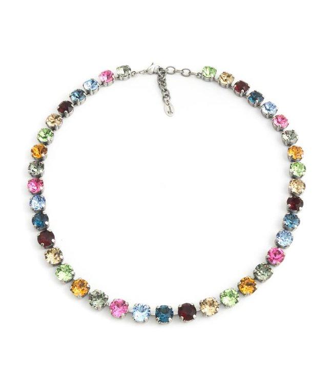 Krikor Meer kleurig collier met Swarovski kristallen