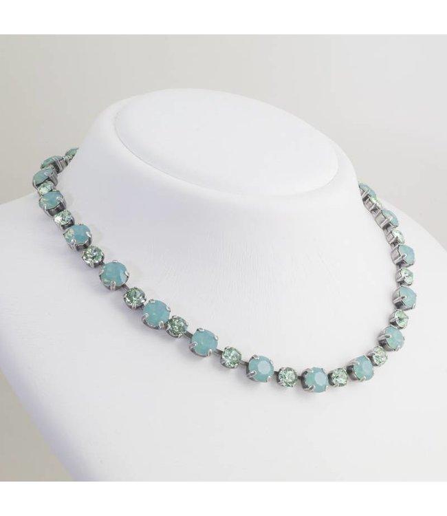 Krikor Opaal blauw collier met Swarovski kristallen