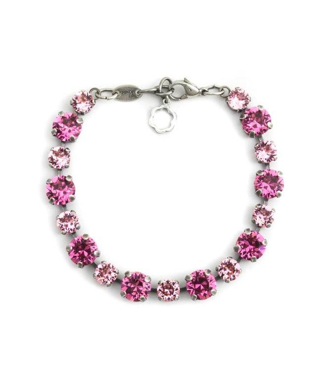 Krikor Roze armband met Swarovski kristallen