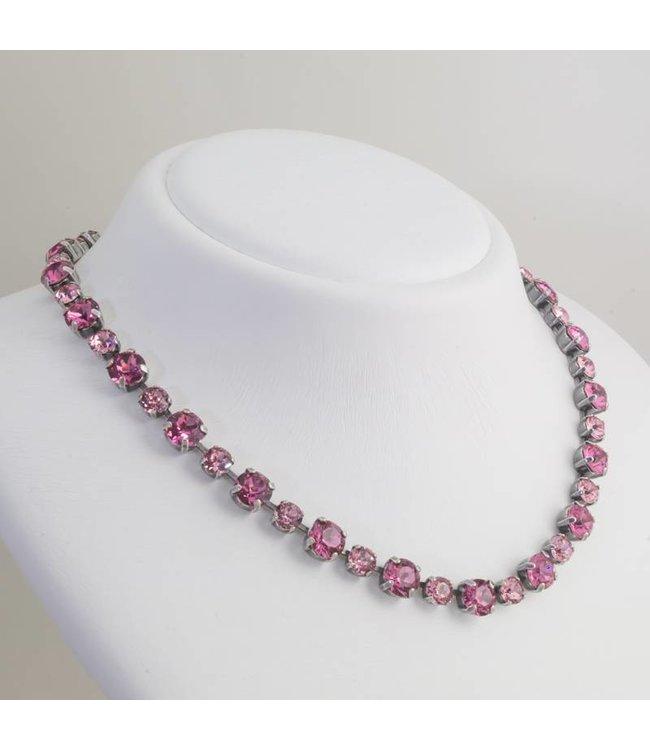Krikor Roze collier met Swarovski kristallen