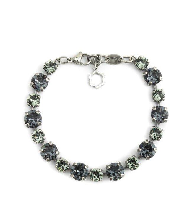 Krikor Zwart grijze armband met Swarovski kristallen