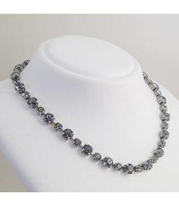Krikor Zwart grijs collier kristal